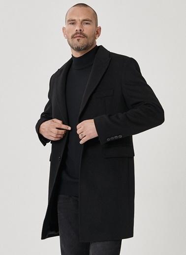 Beymen Business 4B0520100001 Standart Fit Palto Düz Siyah